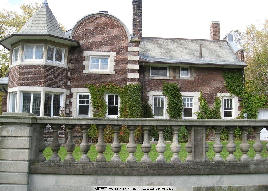 洋房别墅 花园 建筑 小楼 欧式建筑 小屋 屋子 摄影 美国旅游