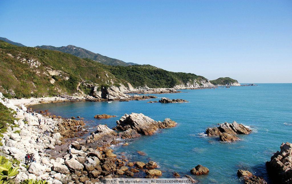 白云 焦石 岩石 山水 大海 旅游 山水风光 天空 海岸 穿越 自然风景