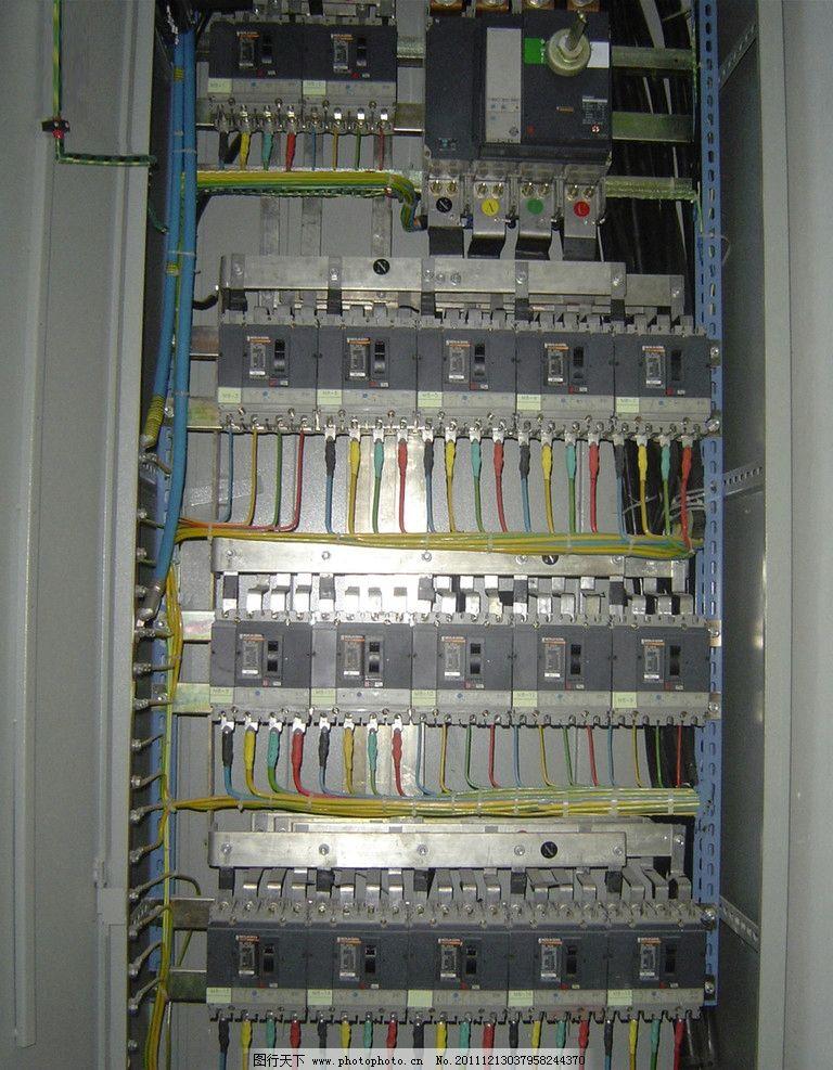 控制柜 电控柜 线路 接触器