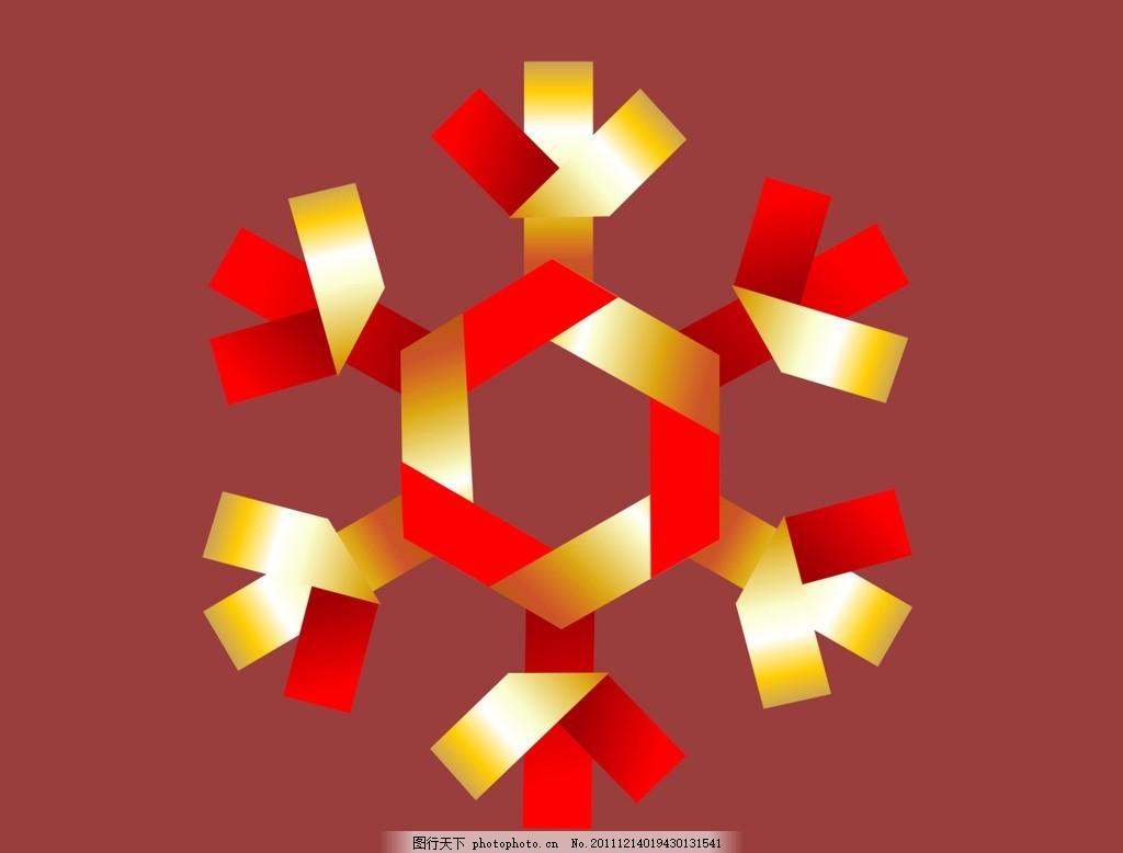 圣诞雪花 圣诞节 金色失量图 深红色背景图 节日素材 可爱的圣诞雪花