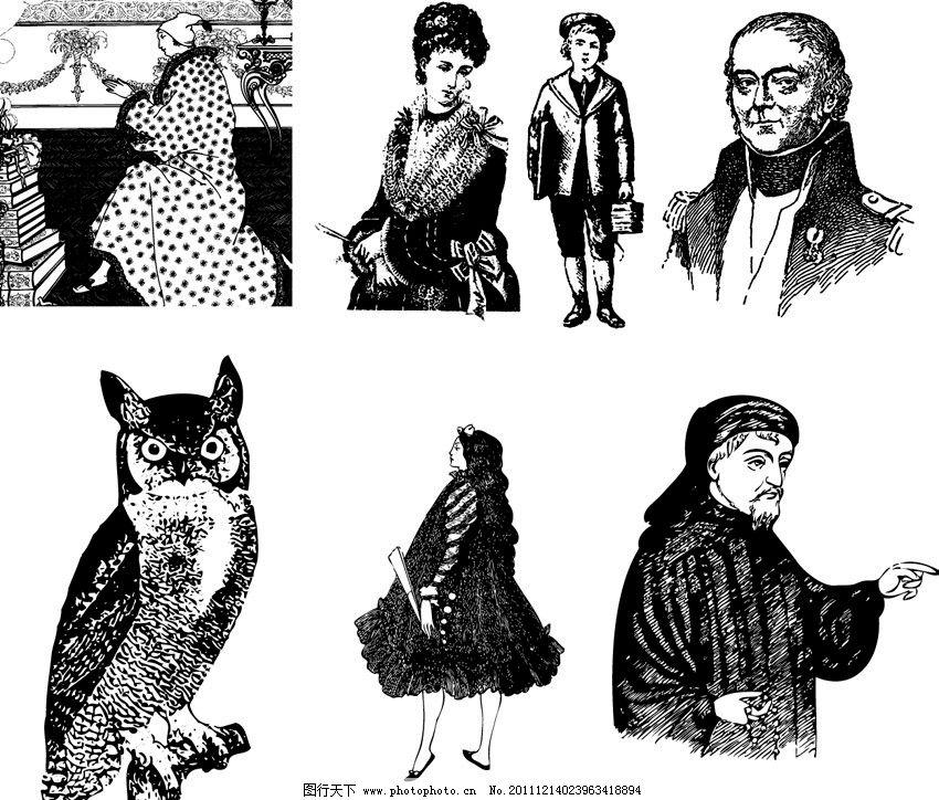 人物与猫头鹰 文艺 文艺复兴 欧洲 欧美 古典 古典人物 小孩 贵人