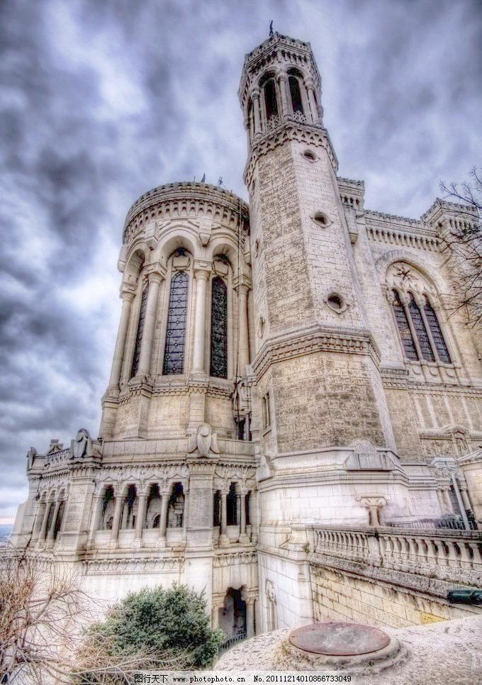 仪式大理石柱 哥特式建筑 金碧辉煌 大气气派 穹顶 装饰 天使 圣母像