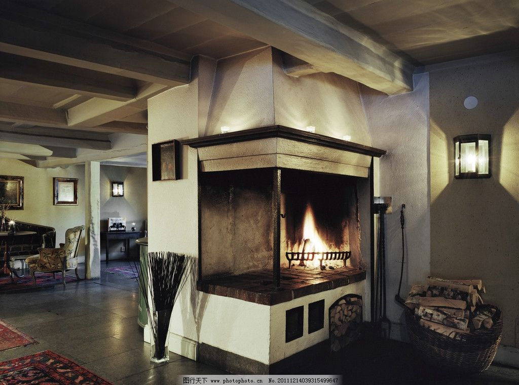 壁炉装饰 壁炉高清图片 室内装饰设计 时尚家居 客厅 沙发 装修设计