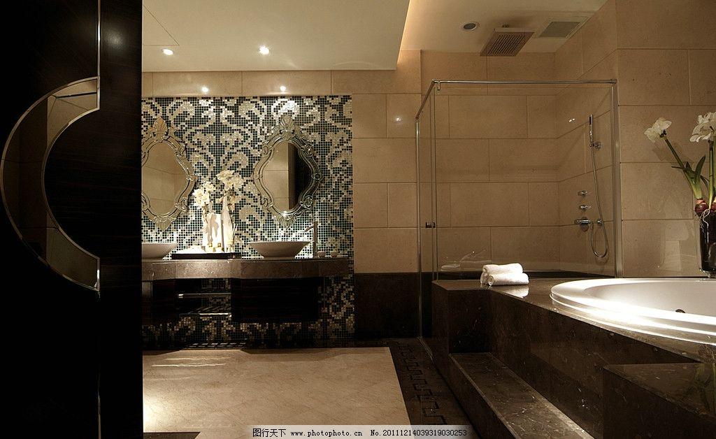 装修 装饰 洗手台 洗手池 镜子               室内摄影 建筑园林