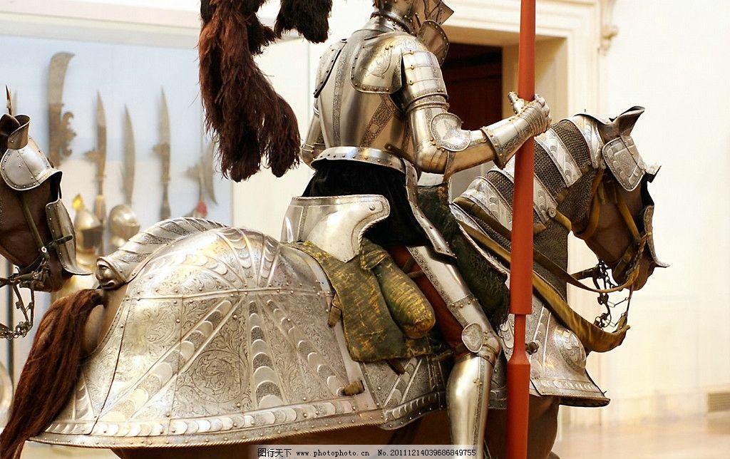 欧洲中世纪骑士雕塑