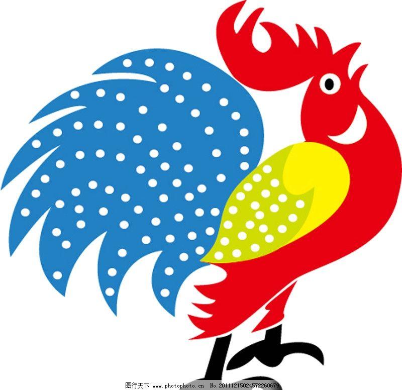大公鸡手绘 公鸡 手绘