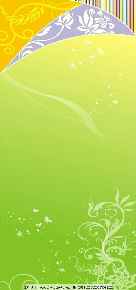 欧式 绿色 底纹 花纹花边 底纹边框 矢量 cdr