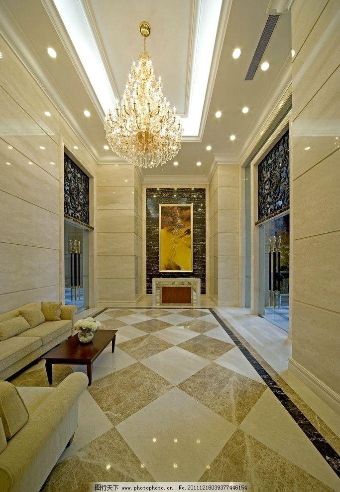 大堂 大厅 华丽 建筑 室内 欧式 房间 家居 家具 窗户 窗帘 壁灯 射灯