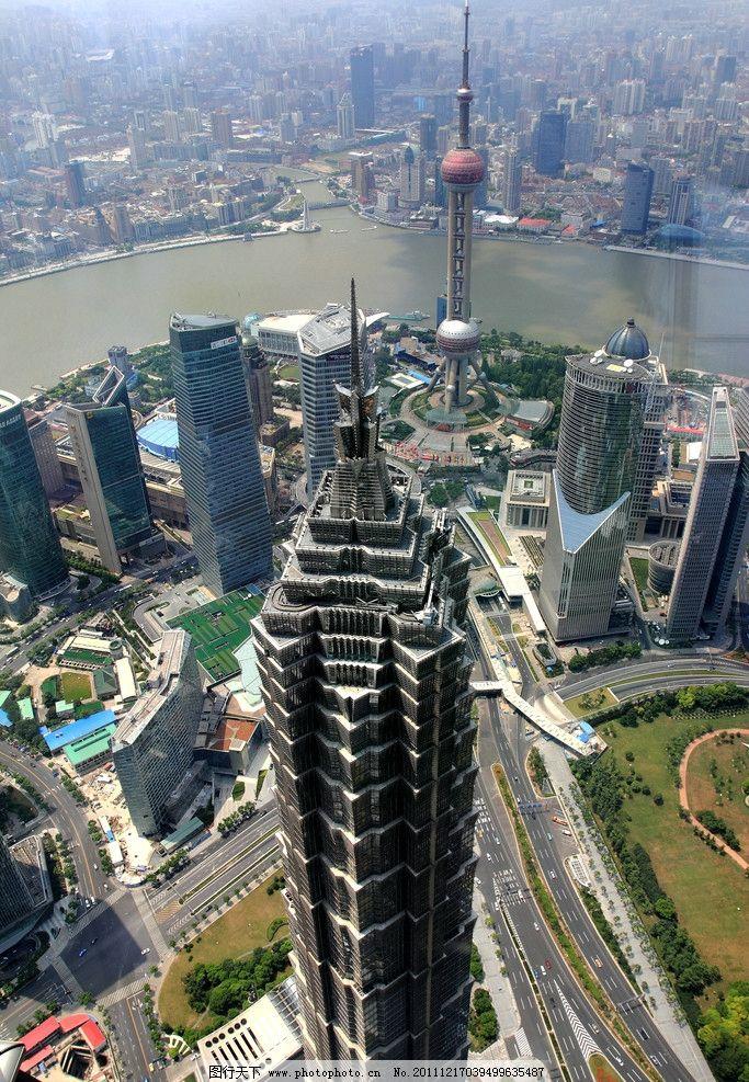上海外滩陆家嘴夜景鸟瞰 上海 外滩 上海夜景 外滩夜景 欧式建筑 国内