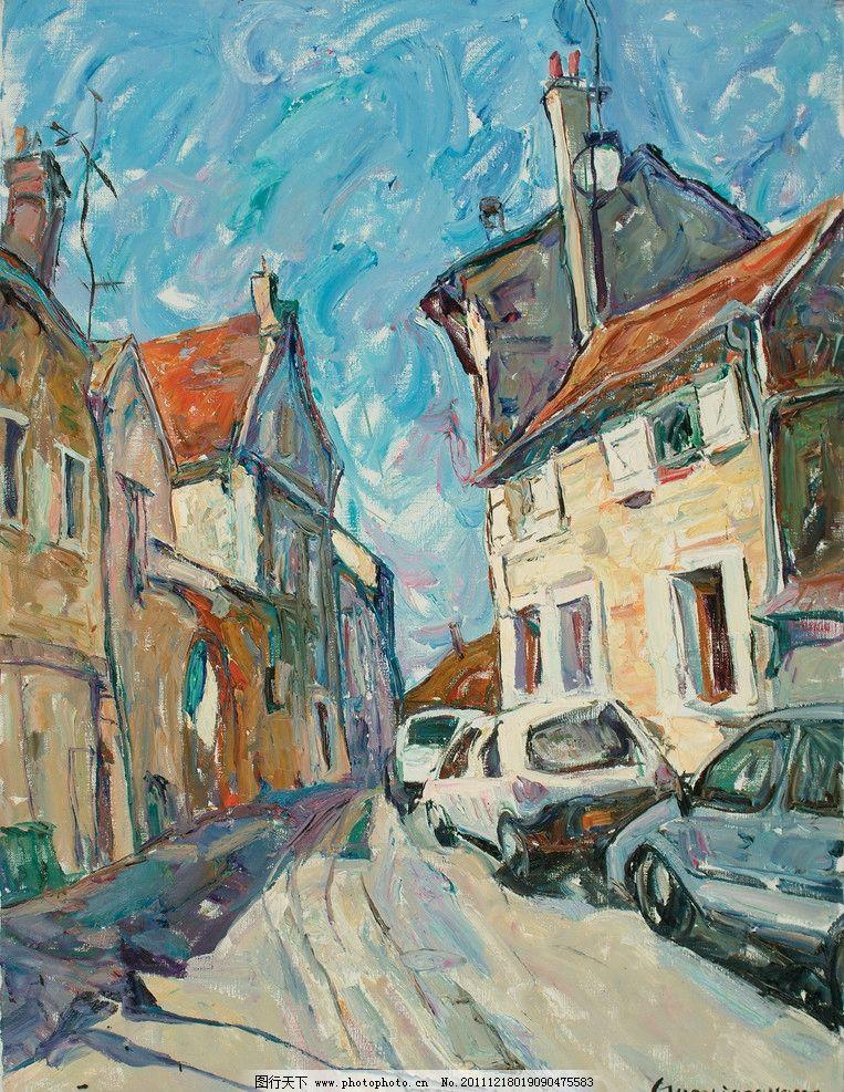 巴黎 郭晓光 油画 风景 表现主义 法国 写生 绘画书法 文化艺术