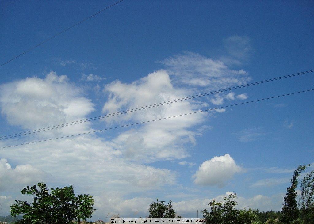 蓝天白云 蓝天 白云 天空 绿树 摄影图库 自然风景 自然景观 摄影 72
