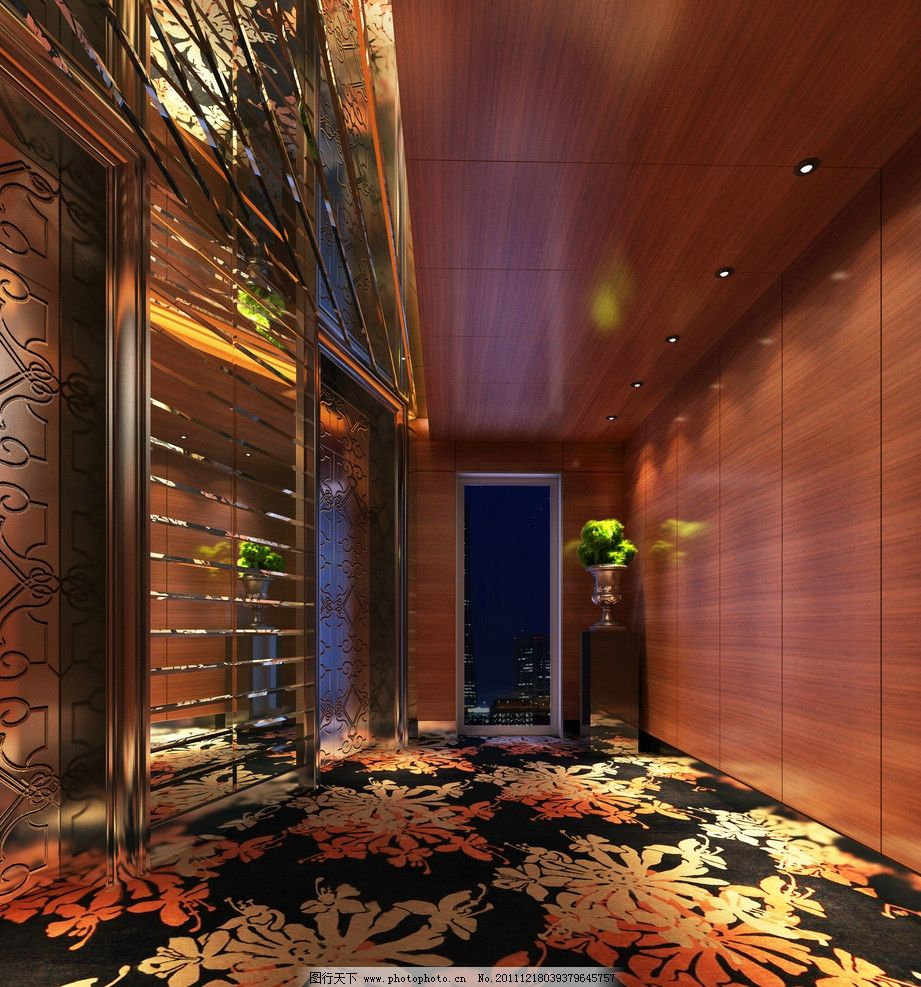 高清酒店房间摄影 欧美 欧式 奢华 高档 走道 楼道 效果图 地毯