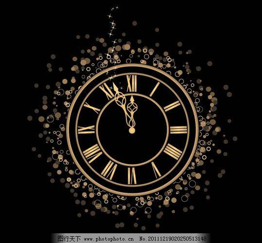 新年钟表倒计时 新年 钟表 时钟 闹钟 时间 雪花 花纹 星光 动感 梦