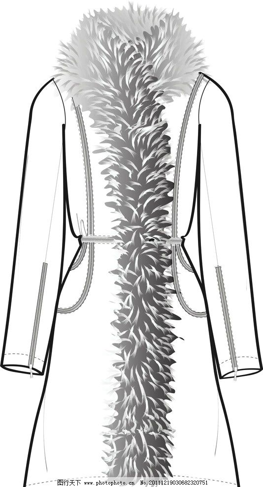 呢子大衣设计稿 呢子大衣 设计稿 矢量图 其他设计 广告设计 矢量 cdr