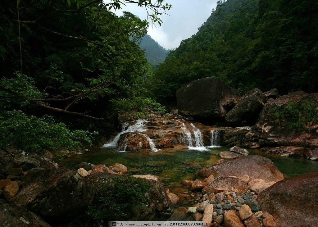 福建 大安源 黄冈山 大峡谷 风景 景区 景点 峡谷 山谷 溪流 小溪