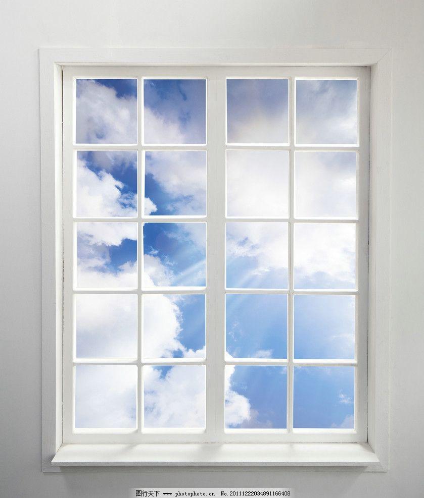 窗外蓝天风景图片