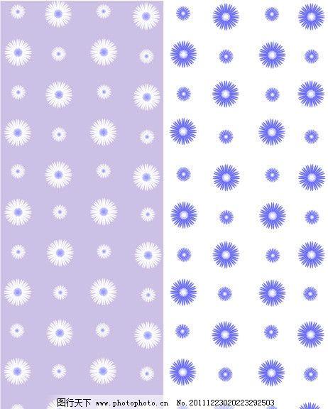 紫花 圈圈 菊花 移门 紫色 花纹 白色 底纹背景 底纹边框 矢量 cdr