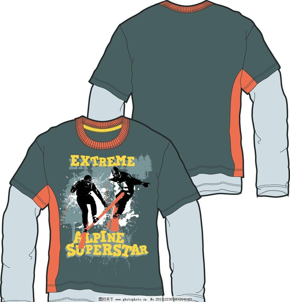 服装款式图 款式图 ai 版型 童装 衬衫 矢量 t恤 卫衣 服装 广告设计