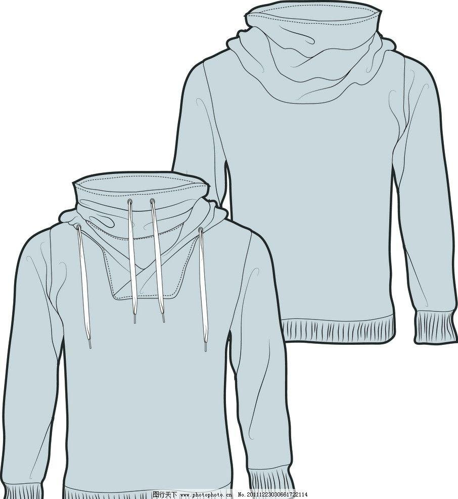 长袖t恤 服装设计 服装款式图