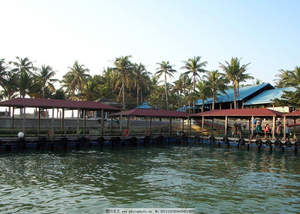 海南风景 海南 分界洲岛 风景区 蓝天 大海 椰子树 游人 游艇 国内