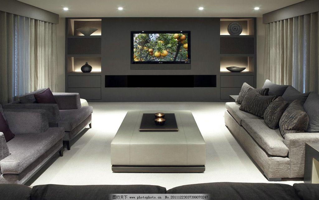 家居效果图片,客厅 沙发 电视 墙柜 茶几 欧式风格-图