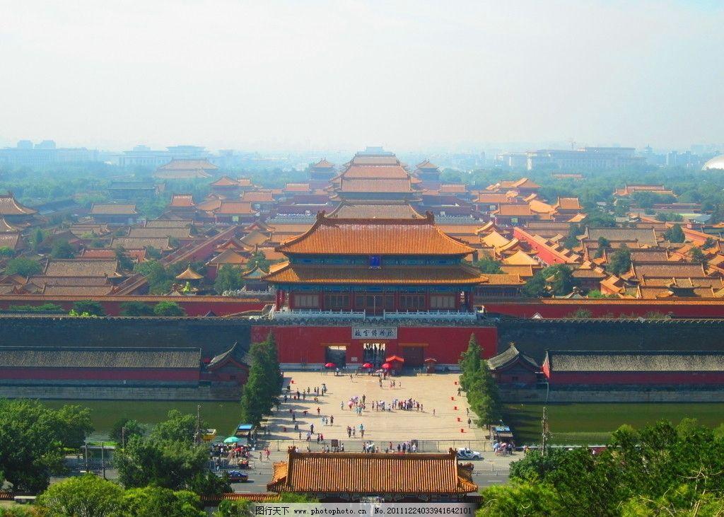 故宫全貌 故宫 全貌 古建筑 北京景点 名胜古迹 北京旅游 国内旅游