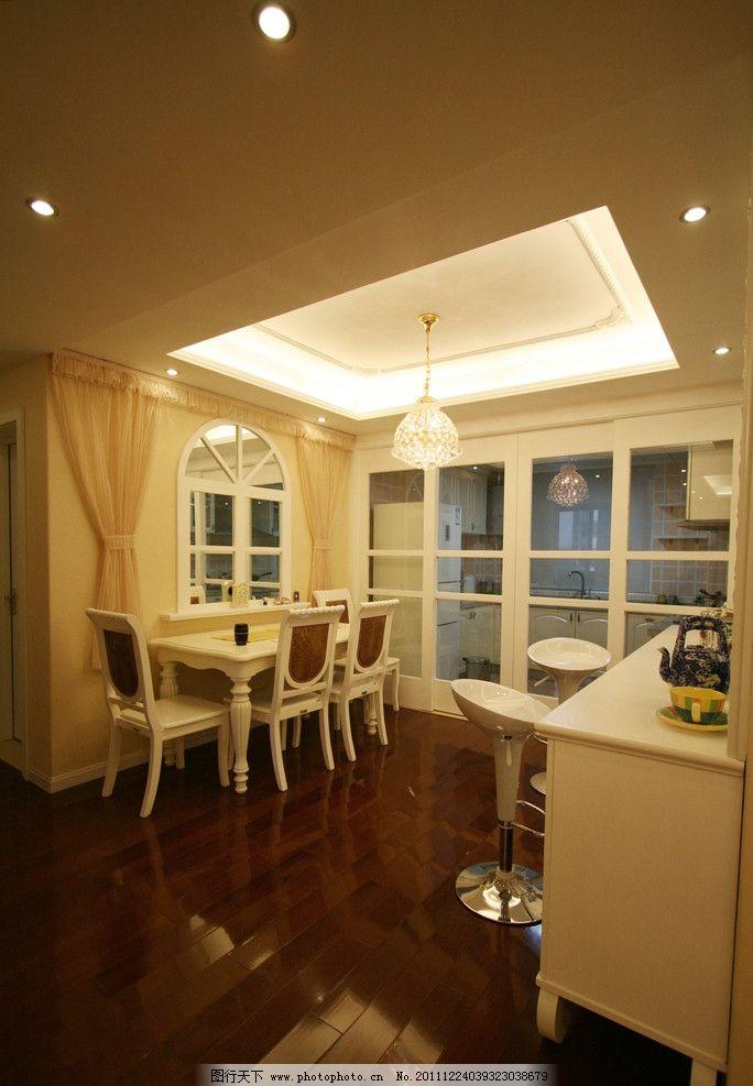餐厅部分 餐桌 餐厅背景 假窗户 镜面玻璃 厨房推拉门 刘克空间设计