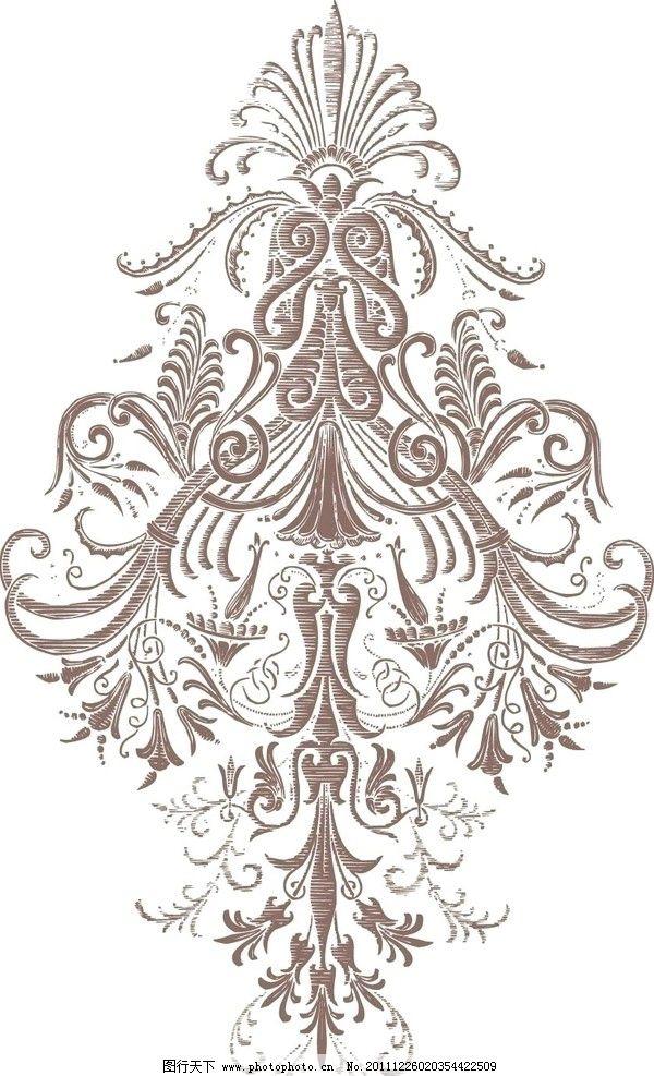 古典花型 古典 细致 美丽 花纹花边 底纹边框 矢量 ai