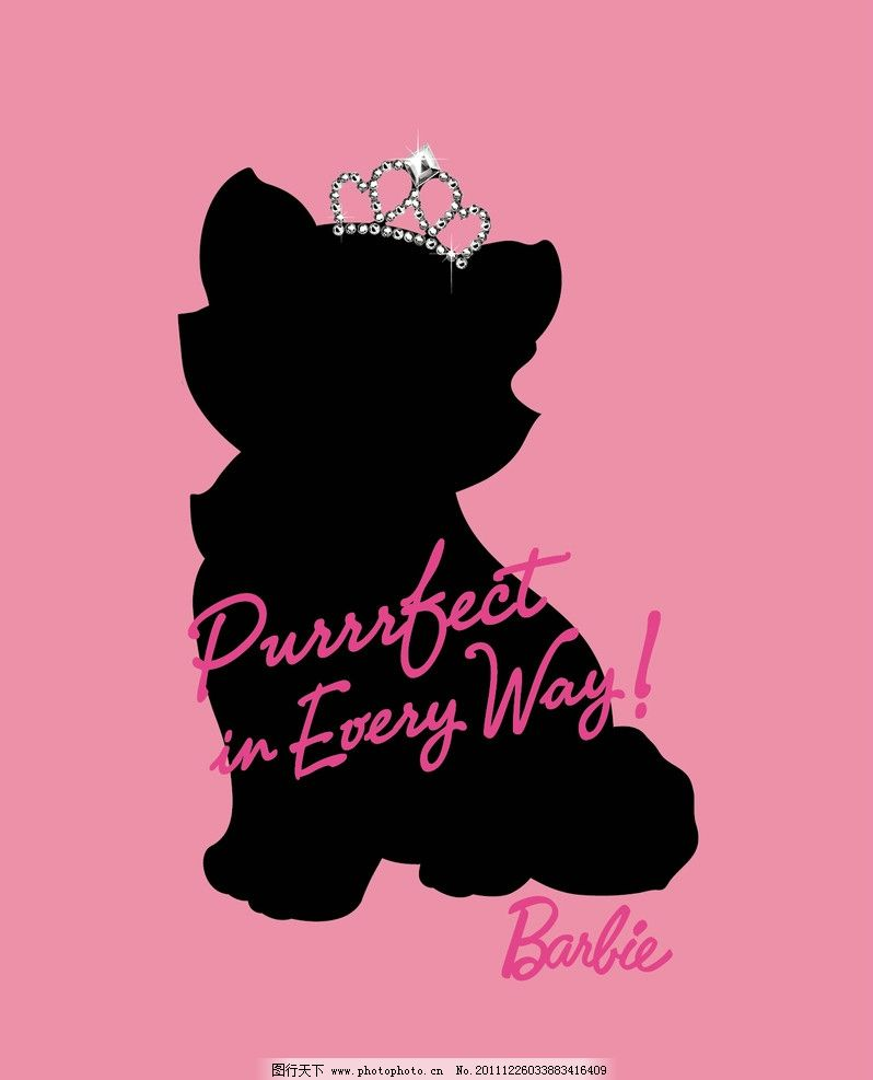 可爱猫咪图案设计 可爱 猫咪 猫 剪影 皇冠      封面设计 barbie