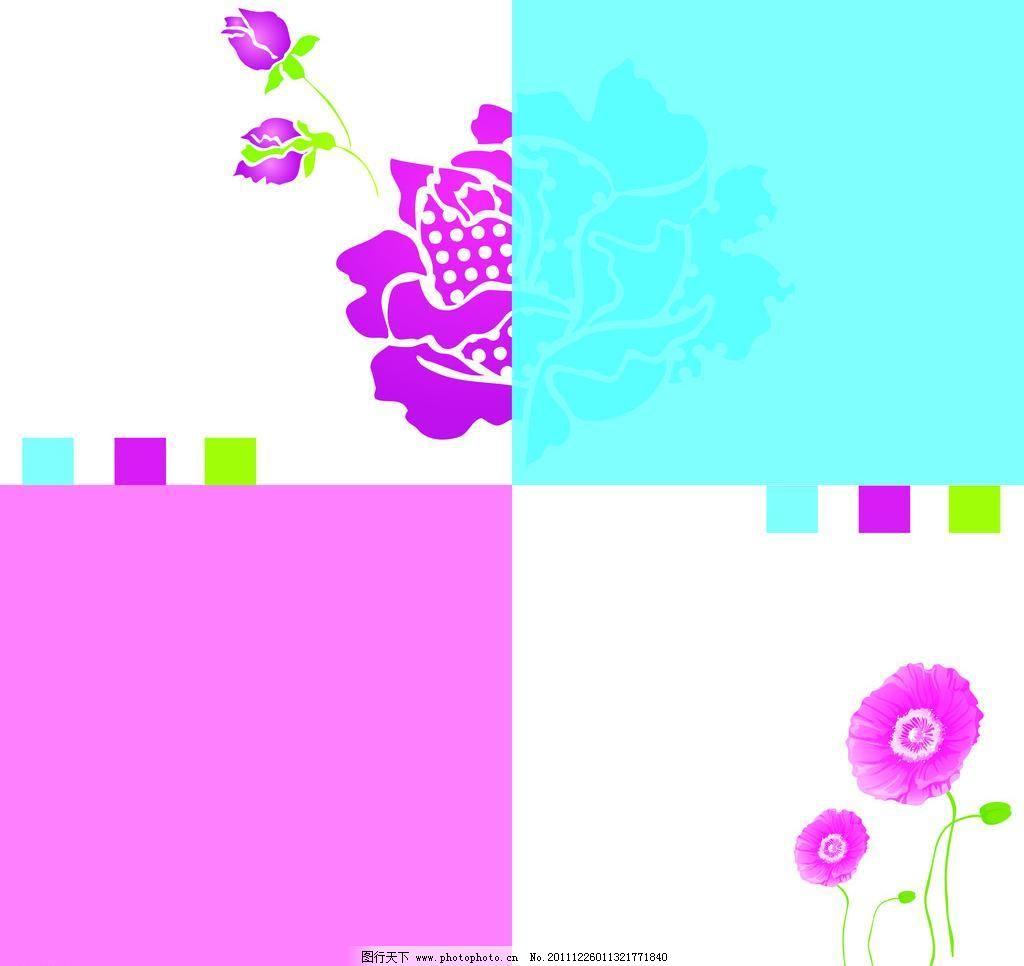 百合 背景素材 底纹 花纹 几何图形 玫瑰 小花 福字花 百合 四方格