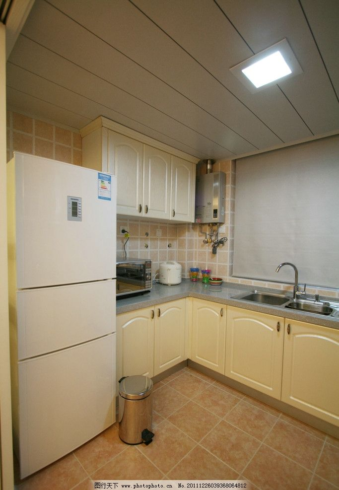 厨房 橱柜 冰箱 集成吊顶 刘克空间设计专辑 室内摄影 建筑园林