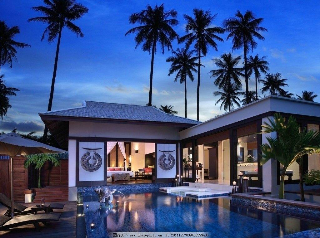 别墅 奢华 游泳池 热带 享受 建筑摄影 建筑园林
