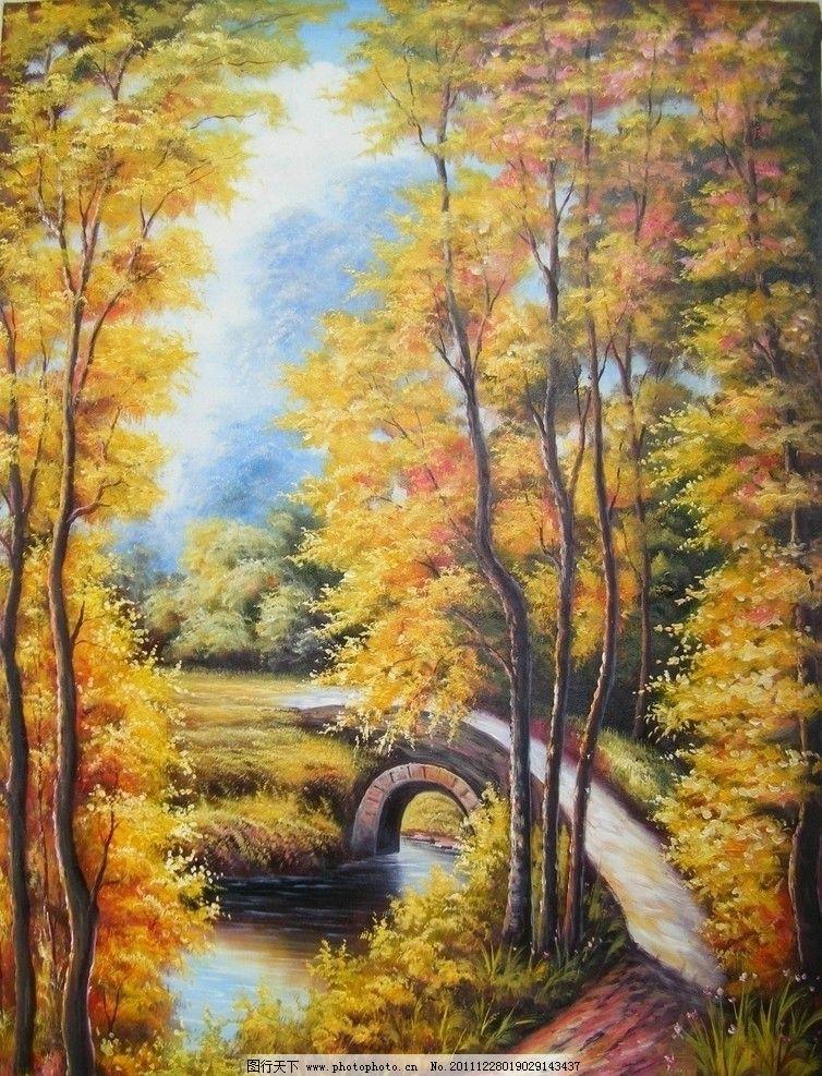 风景油画艺术图片图片