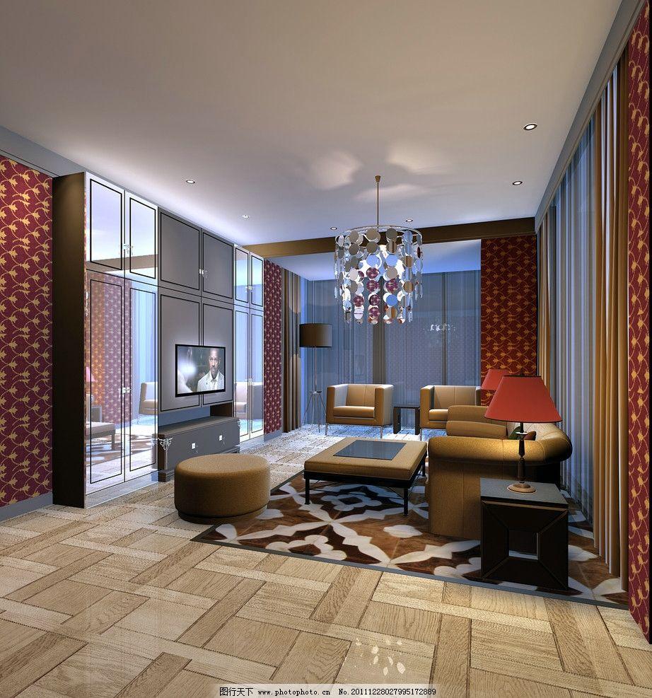 室内透视 室内透视效果图 沙发 电视 室内装饰 室内设计 环境设计