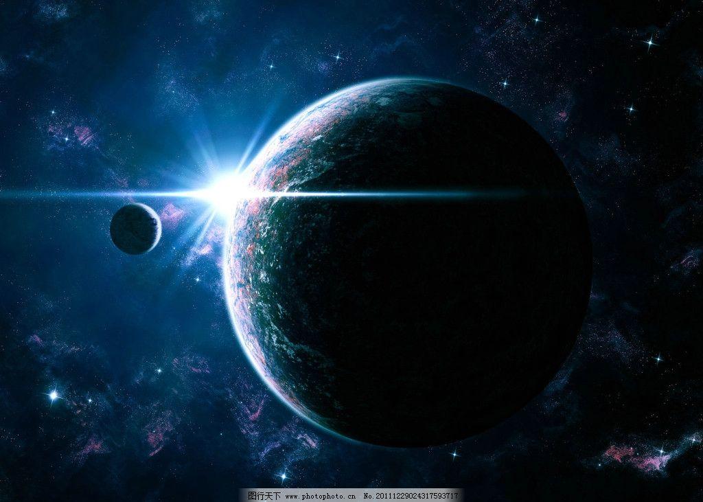 星空 插图 宇宙 星球 光 尘埃 背景 星星 月亮 地球 彗星