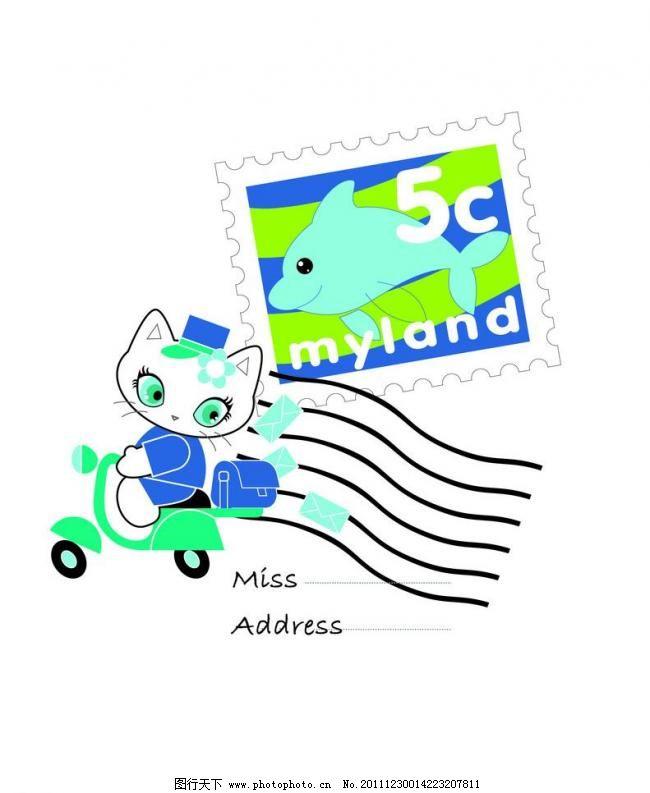 动物 儿童 服装 服装设计 小猫 猫咪 猫矢量素材 猫模板下载 猫 绣花