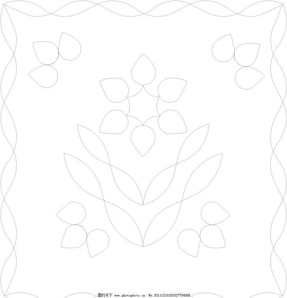 绗缝花型 线条花纹 花边花纹 底纹边框 设计 38dpi bmp