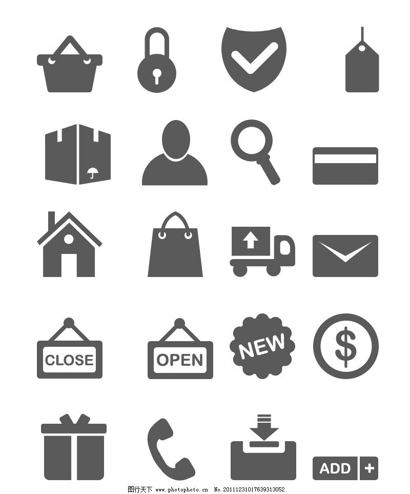 简约式网页图标图片_其他_ui界面设计_图行天下图库